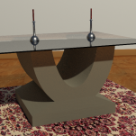 U coffee table Table 800mm x 400mm x 400mm Glass top 1000mm x 600mm x 4mm £700