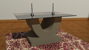 U shaped coffee table