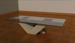 V coffee table base 800mm x 400mm x 400mm glass top 1200mm 600mm x 4mm £620