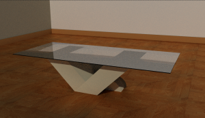 V shaped coffee table