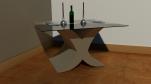 X coffee table base 400mm x 400mm x 400mm glass top 600mm x 600mm x 4mm £375