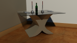 X coffee table base 400mm x 400mm x 400mm glass top 600mm x 600mm x 4mm £375
