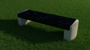 Granite semi straight bench