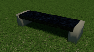 Block Bench (granite top)