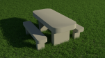 Smooth table and bench