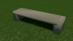 Block Bench (sandstone top)