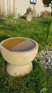 Yin Yang bird bath