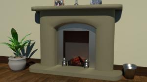 Deek fire surround